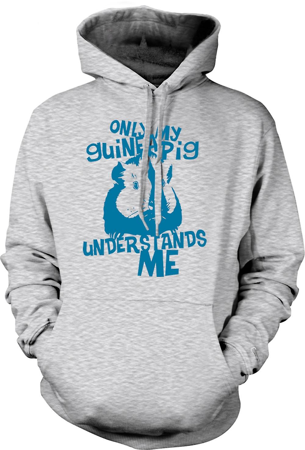 Mens Hoodie - Only My Guinea Pig Understands Me