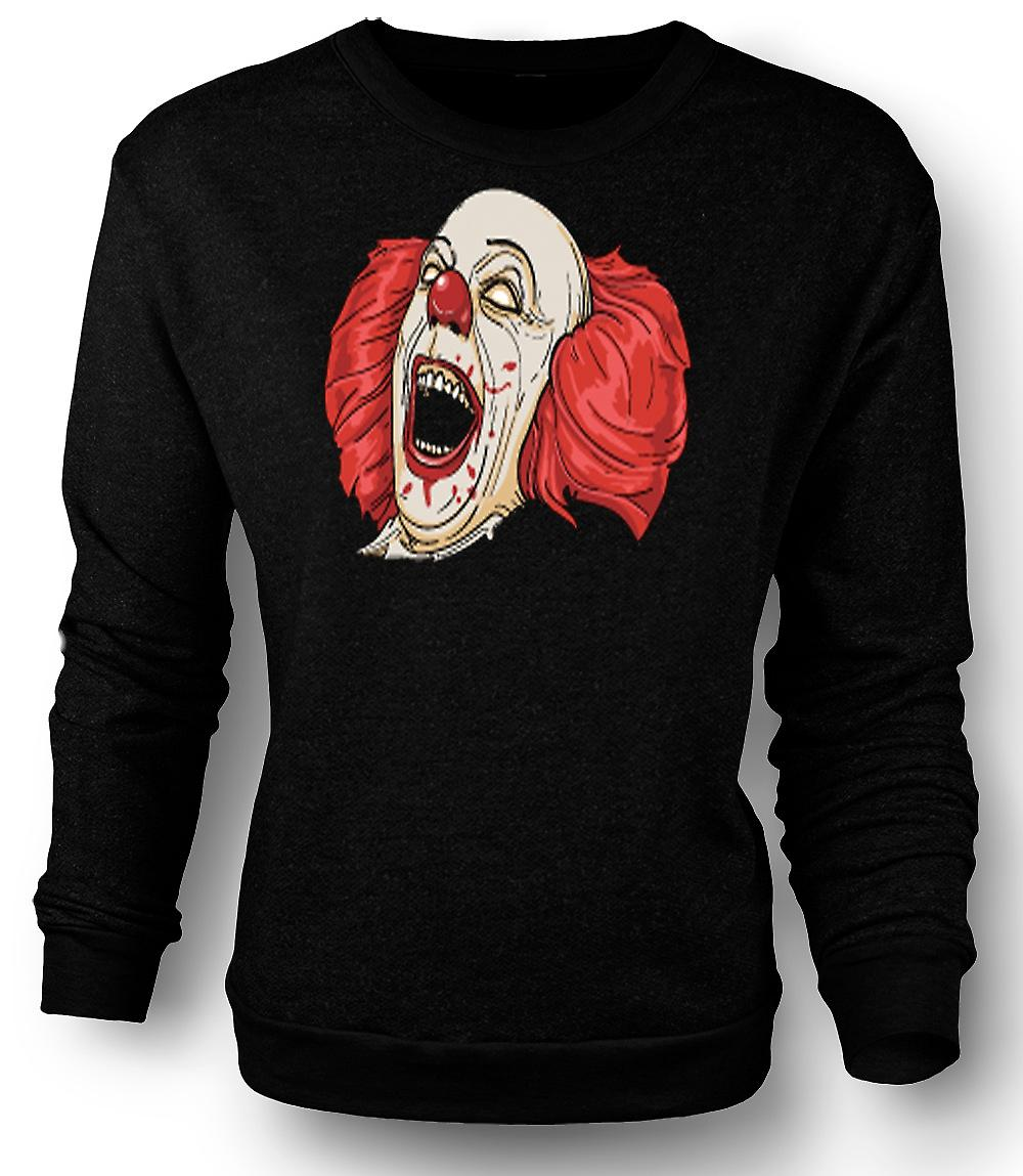 Mens Sweatshirt Stephen King's It Pennywise Portrait