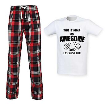 This Is What An Awesome Dad Looks Like Tartan Pyjamas