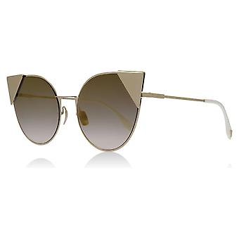 Fendi FF0190/S 000 Rose Gold FF0190/S Cats Eyes Sunglasses Lens Category 2 Lens Mirrored Size 57mm