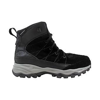 The North Face Chilkat Leather Waterproof Black/Dark Shadow Grey CQ26ZU5 Grade-School