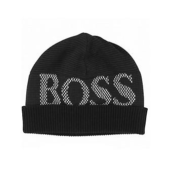 BOSS Kidswear Hugo Boss Boys Black Logo Beanie