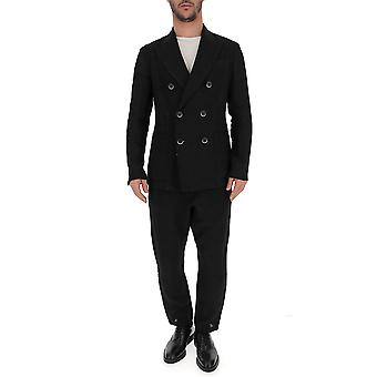 Barena Venezia Black Cotton Suit