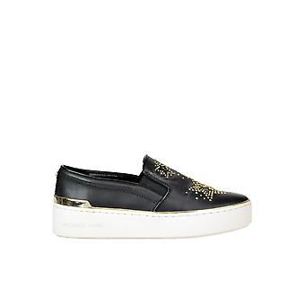 Michael Kors svart läder Slip på Sneakers