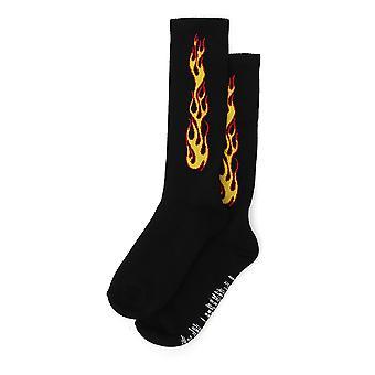 Palm Angels Black Cotton Socks