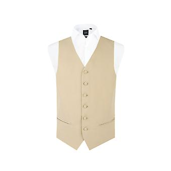 Dobell gutter gull/Buff morgen Wedding Dress vest passe vanlig enkelt Breasted
