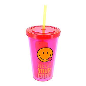 Smiley World Cup with Straw