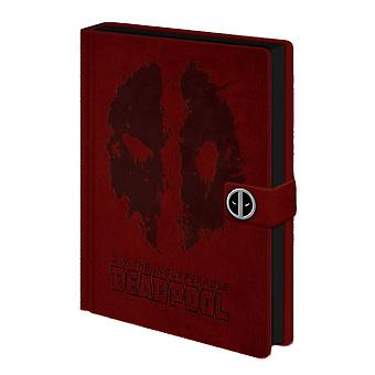 Deadpool Splat Logo A5 Premium Hardback Notebook
