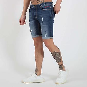 Nuevo Club Denim Club Shorts - Blue