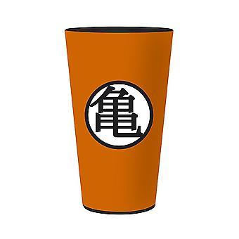 Dragon Ball XXL Verre Cameo - Kaio orange/noir, en verre, capacité d'environ 500 ml.