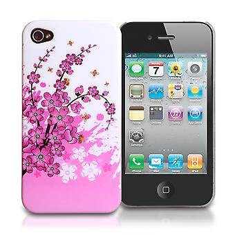 YouSave Accessories iPhone 4 4S Floral Bee Silicone Gel Case