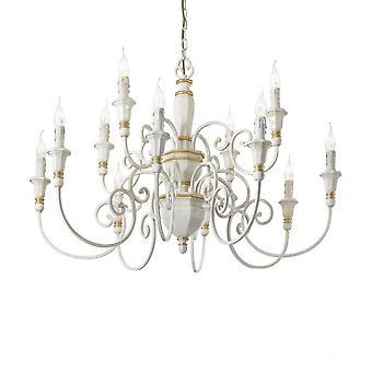 Ideal Lux Palio 12 Bulb Pendant Light White