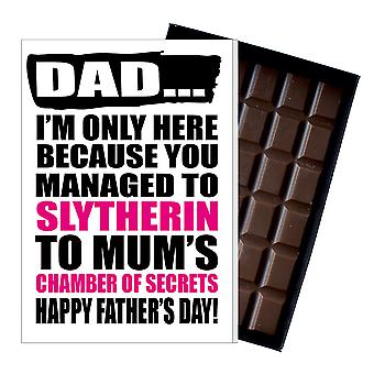 Funny Father's Day Gift Harry Potter Inspired Chocolate Present Card For Dad