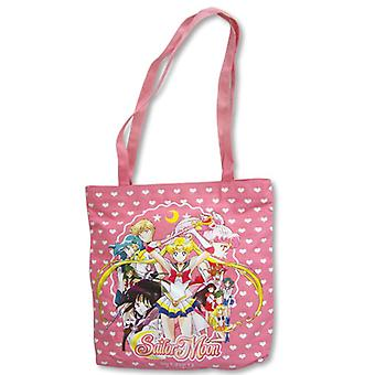 Tote Bag - Sailor Moon - New Pink Group Lady Purse Anime Gifts Toys ge11004