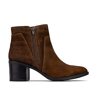 Womens Geox New Asheel Ankle Boots in coffee.