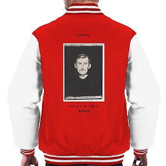 A.P.O.H Edvard Munch Memento Mori Portrait Men's Varsity Jacket