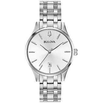 Bulova kvinnors rostfritt stål Silver Dial datum 96M 148 Watch