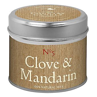 Simply Natural Collection Candle in a Tin - Clove & Mandarin