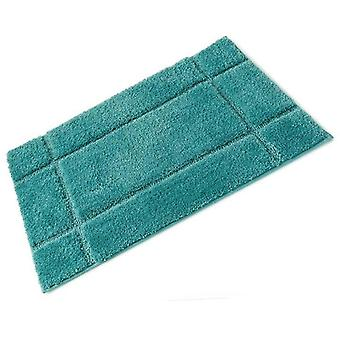 Orla Sea Green Full Rubber Backed Microfibre Single Bath Mat 50cm x 80cm