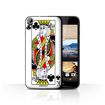 STUFF4 Case/Cover for HTC Desire 830/King of Clubs/Playing Cards