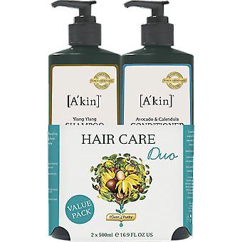 A'kin Ylang Ylang Shampoo & Avocado Calendula Conditioner Duo