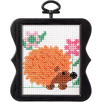 Beginner Minis Hedgehog Counted Cross Stitch Kit-3