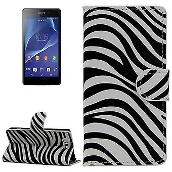 Mobile phone case pouch for phone Sony Xperia Z3 compact Zebra
