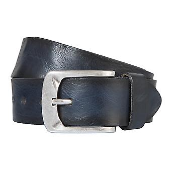 BERND GÖTZ belts men's belts leather belt leather blue 2133