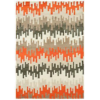 Kampala Orange & Grey Contemporary Rug