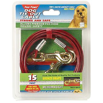 Four Paws Medium Weight Cable Red 4.5m (15ft)