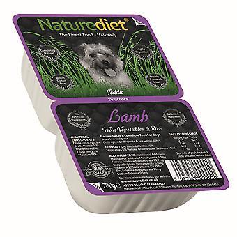 Naturediet lam med grøntsager & ris Twin Pack 280g (pakke med 18)