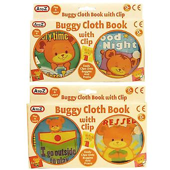 A to Z Baby My First Buggy Cloth Book Animals Play and Learn