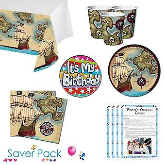 Pirate's Map Party servies Saver Pack