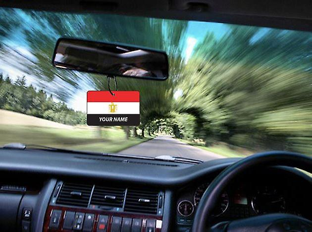 Egypt Flag Personalised Car Air Freshener