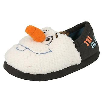 Infant Boys Disney Frozen Novelty Slippers Olaf Carrot