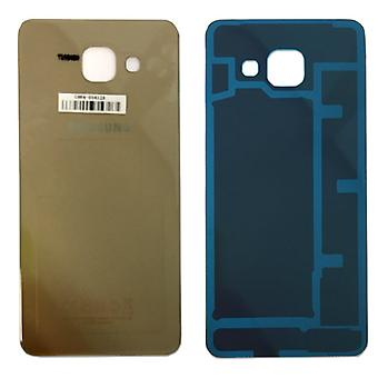 Samsung GH82-11093A battery cover cover for Galaxy A3 2016 A310F + adhesive pad gold