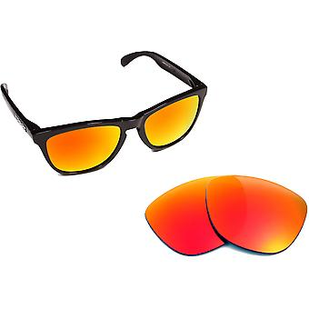 New SEEK Replacement Lenses for Oakley FROGSKINS Red Yellow Silver Mirror