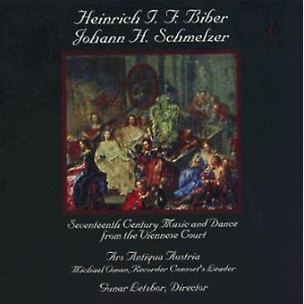 Biber/Schmelzer - Heinrich I. F. Biber; Johann H. Schmelzer: 1600-tals musik & Dance fra Wiener retten [CD] USA importerer