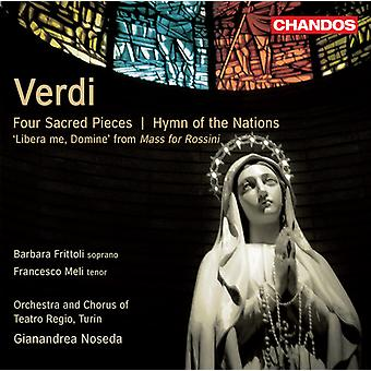 G. Verdi - Verdi: Four Sacred Pieces; Hymn of the Nations [CD] USA import