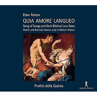 Rotem / Profeti Della Quinta / Rotem - Quia Amore Langueo - Højsangen & mørke bibelske [CD] USA import
