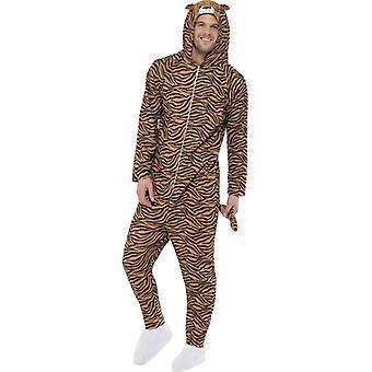 Tigerkostüm Overall Tiger Kostüm Herren Tigeranzug