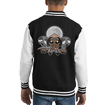 Shuffle And Slice Michonne Walking Dead Kid's Varsity Jacket