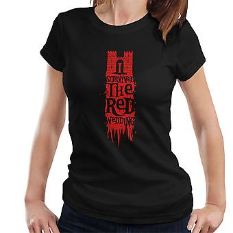I Survived The Red Wedding Game Of Thrones Women's T-Shirt