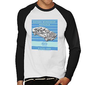 Haynes Workshop manuell 1491 Audi 80 90 Stripe Menns Baseball lange ermer t-skjorte