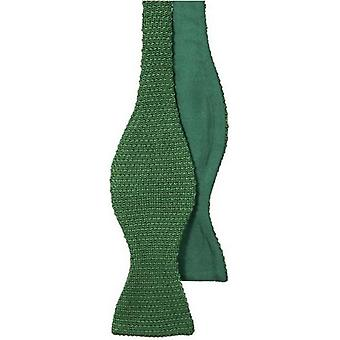 40 Colori Knitted and Woven Untied Butterfly Bow Tie - Emerald Green