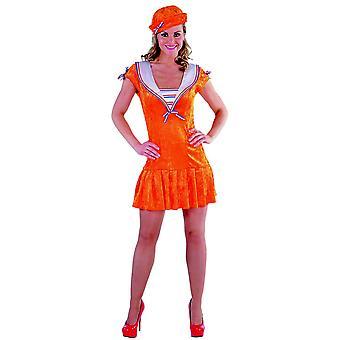 Kvinder kostumer Sailor navy kjole damer Orange