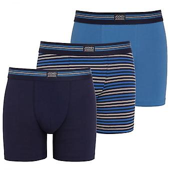 Jockey Cotton Stretch 3-Pack Boxer Trunk, Maritime Blue / Stripe / Navy, X-Large