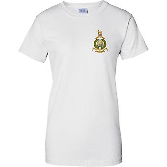 Con licenza MOD - Royal Marines Globe e Laurel Insignia - Per Mare Per Terram - Ladies petto Design t-shirt
