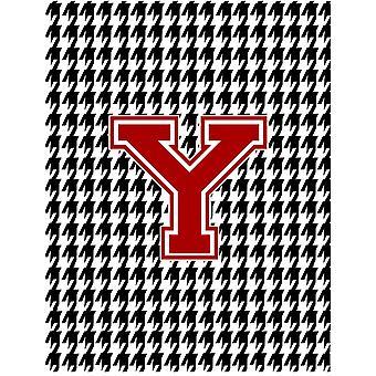 Houndstooth Black Initial  Y Monogram Initial Flag Garden Size CJ1021