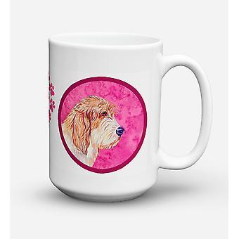 Petit Basset Griffon Vendeen lave-vaisselle sûre pour micro-ondes céramique Mug à café 15